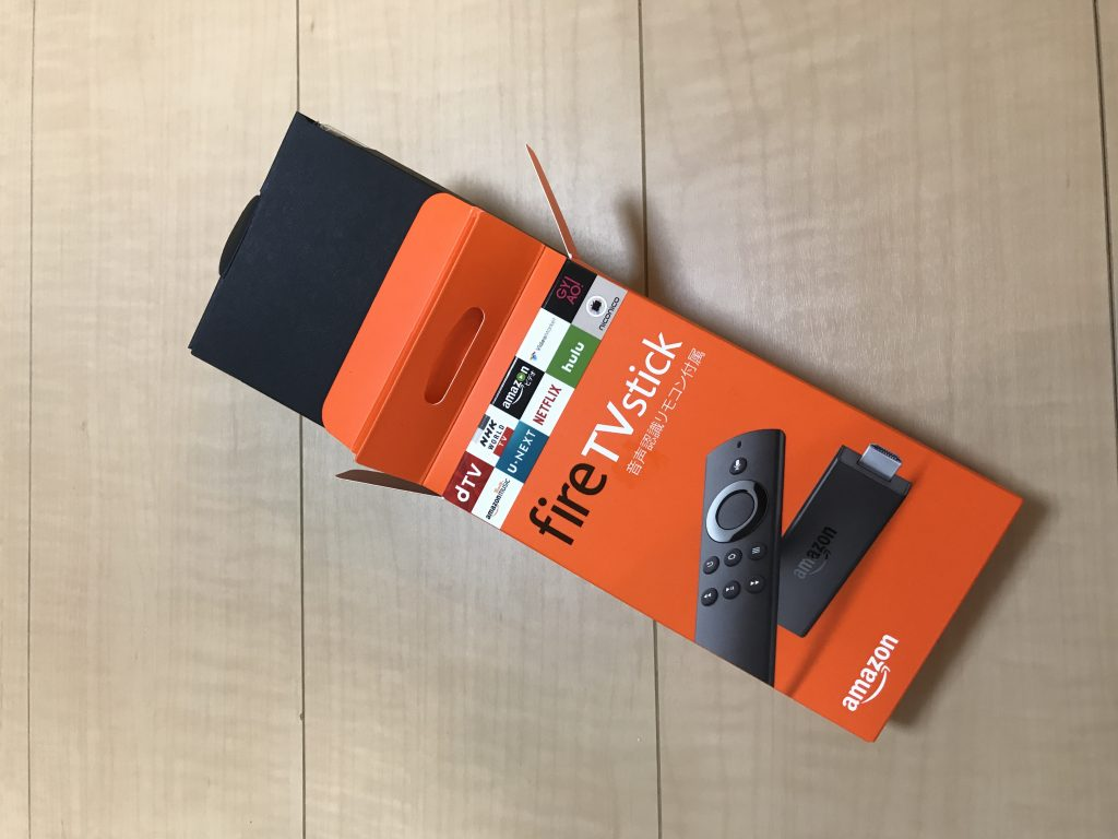 fire TV stick 箱開け